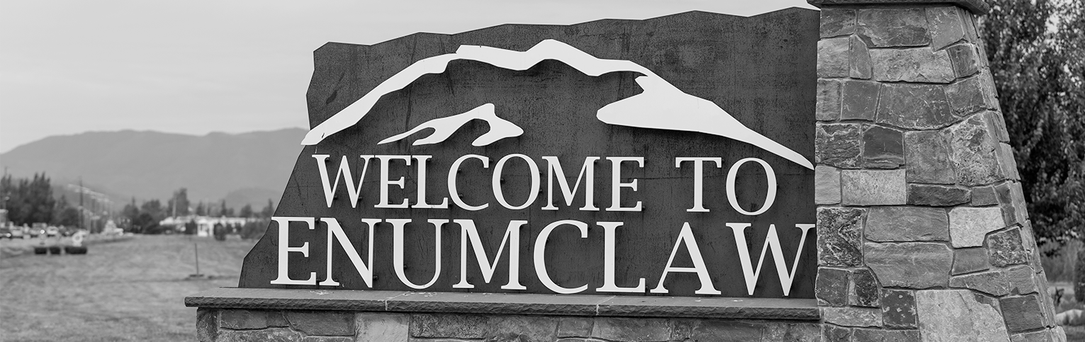Welcome to Enumclaw sign