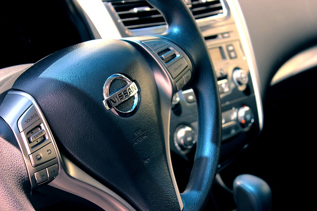 Nissan vehicle steering wheel