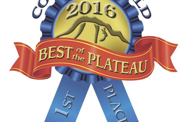 Courier Herald 2016 Best of the Plateau 1st Place ribbon