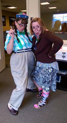 WRCU employees dressed as nerds