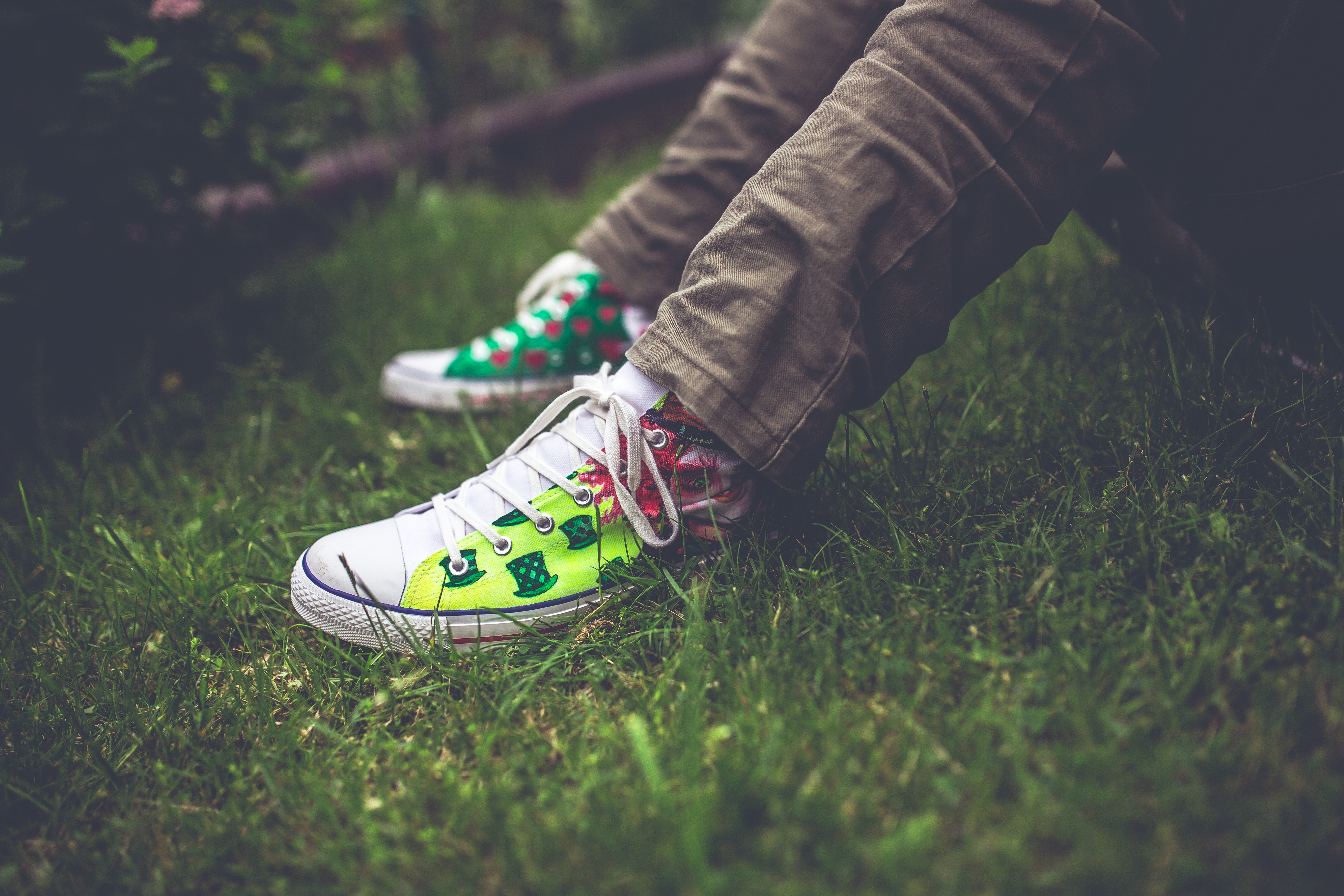 highlighted sneakers