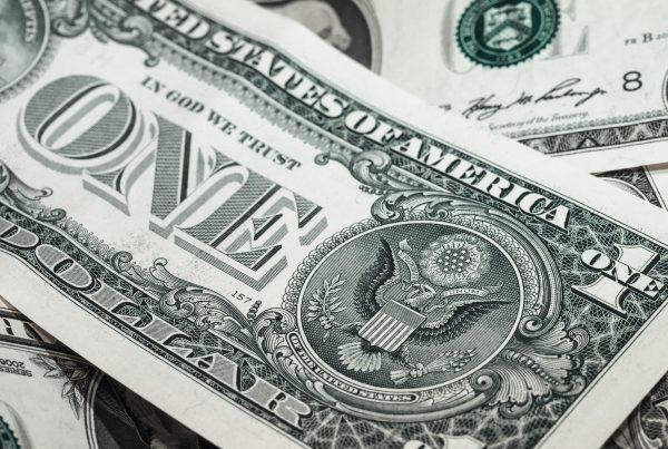 close up of 1 dollar bill
