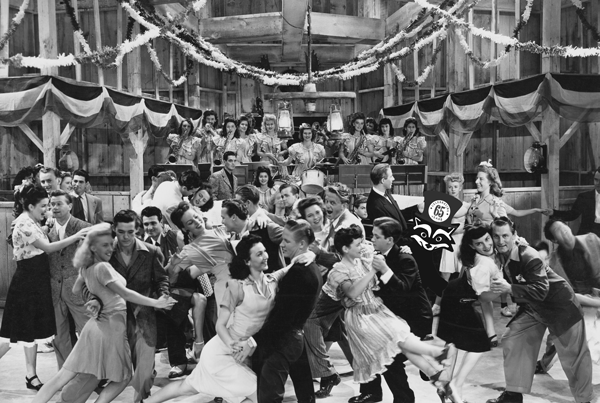 dance hall with dancers from the 1950s