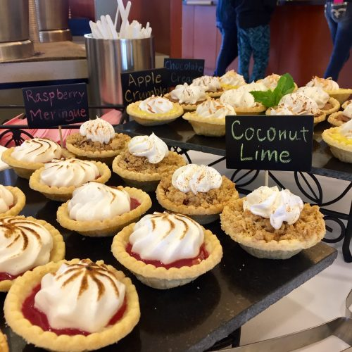 mini pies on display