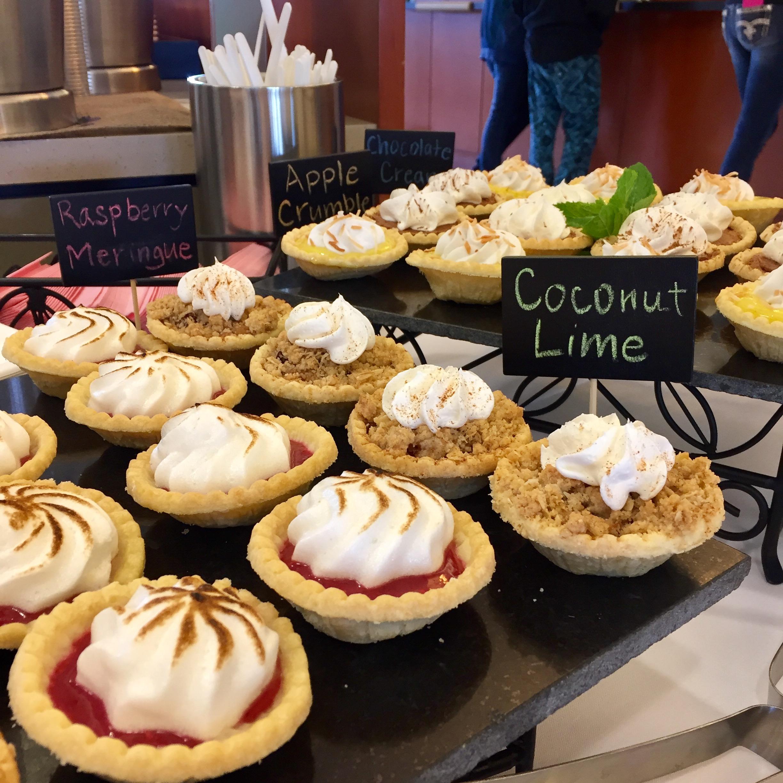 mini pies on display
