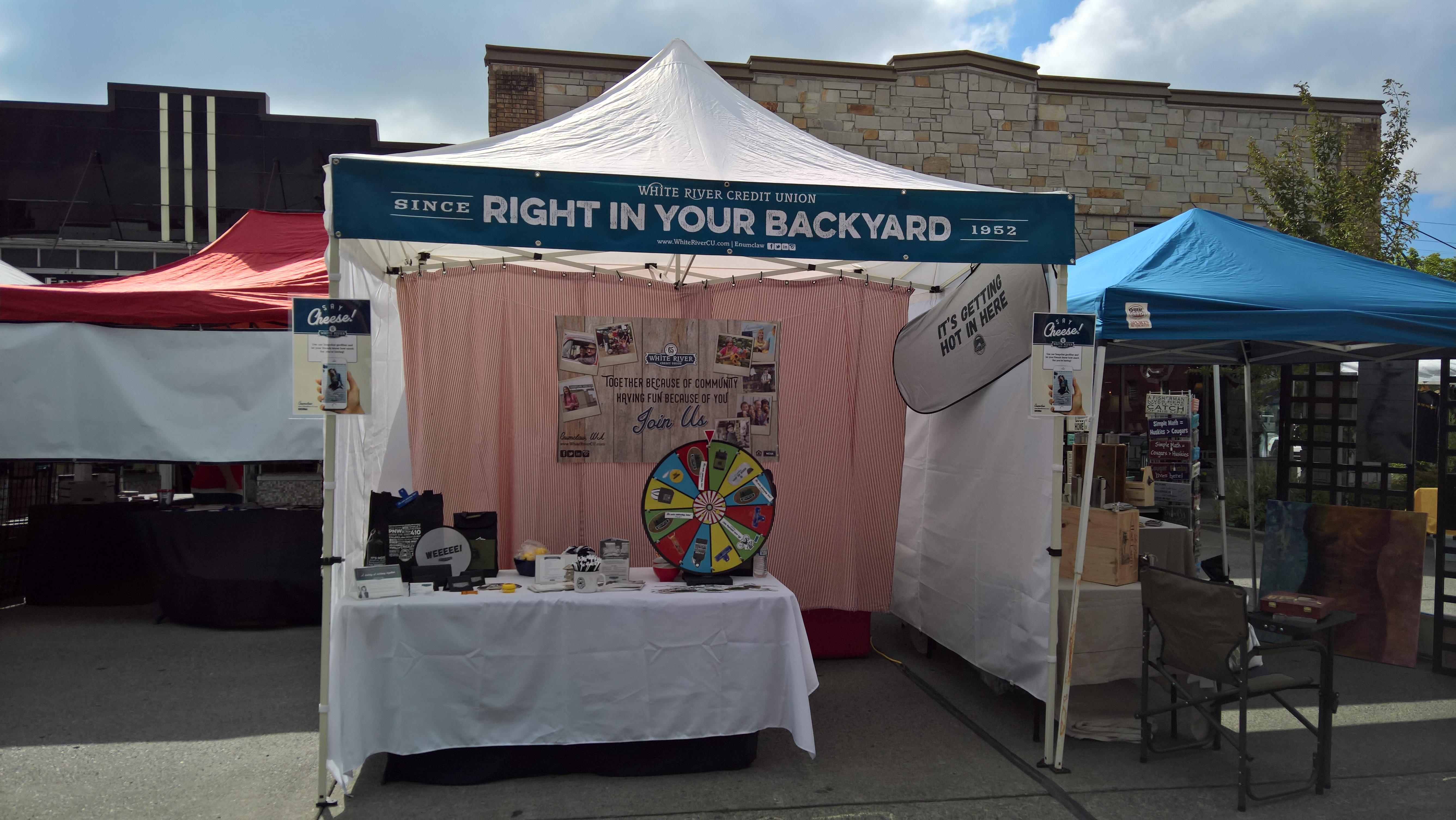 Right in Your Backyard WRCU booth