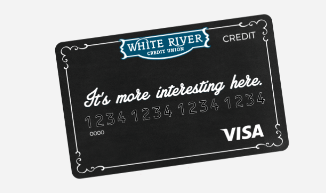 Visa credit card that says It's more interesting here.