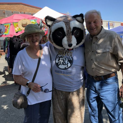 Rocky Raccoon with man and woman