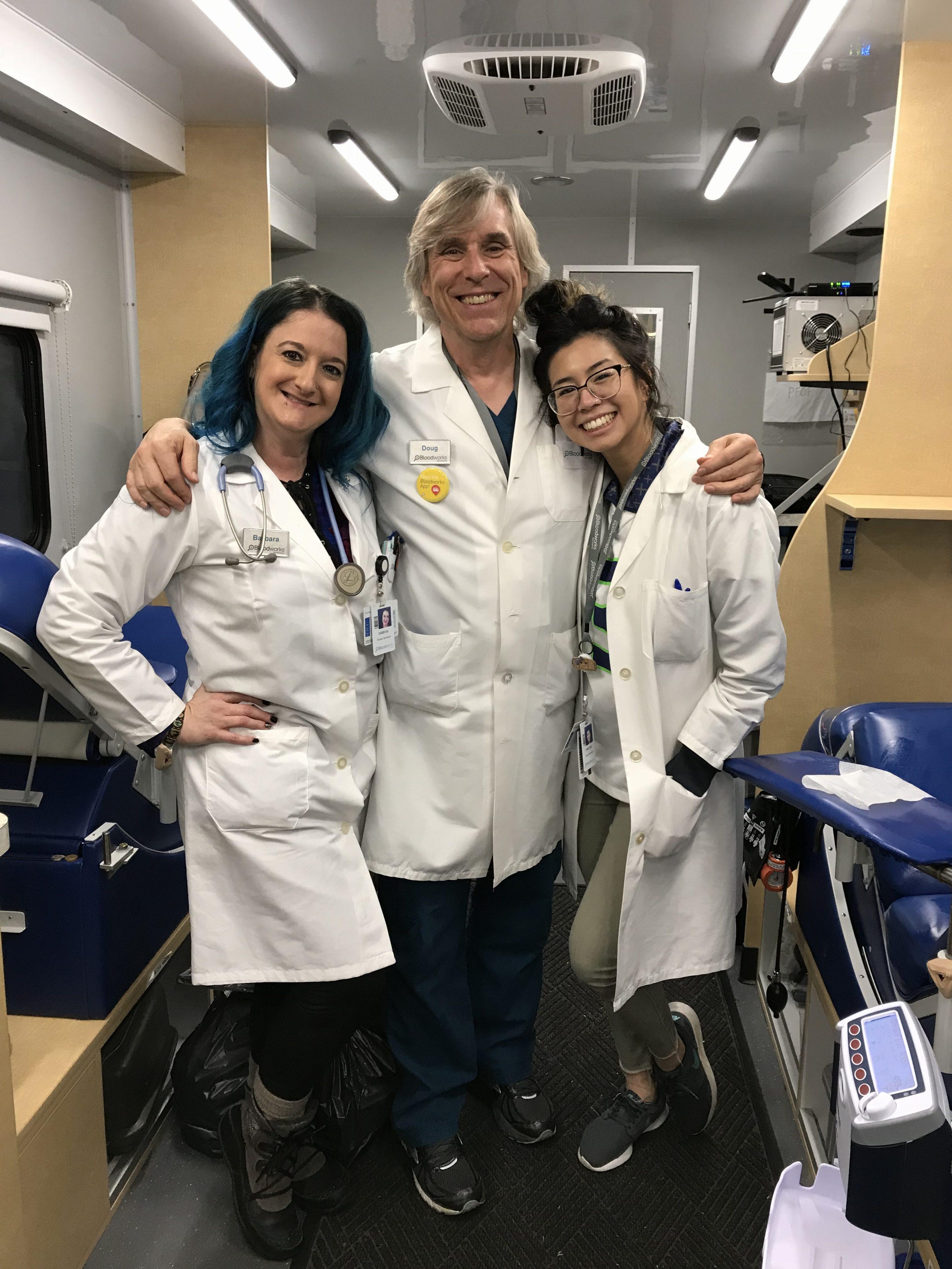 Three Northwest Bloodworks employees