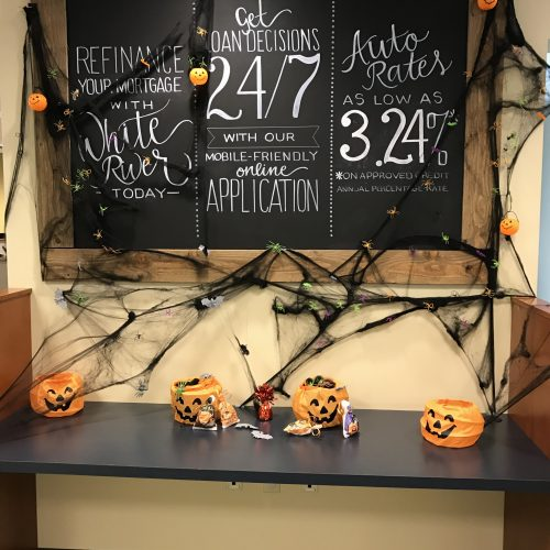 Chalkboard with rates listed