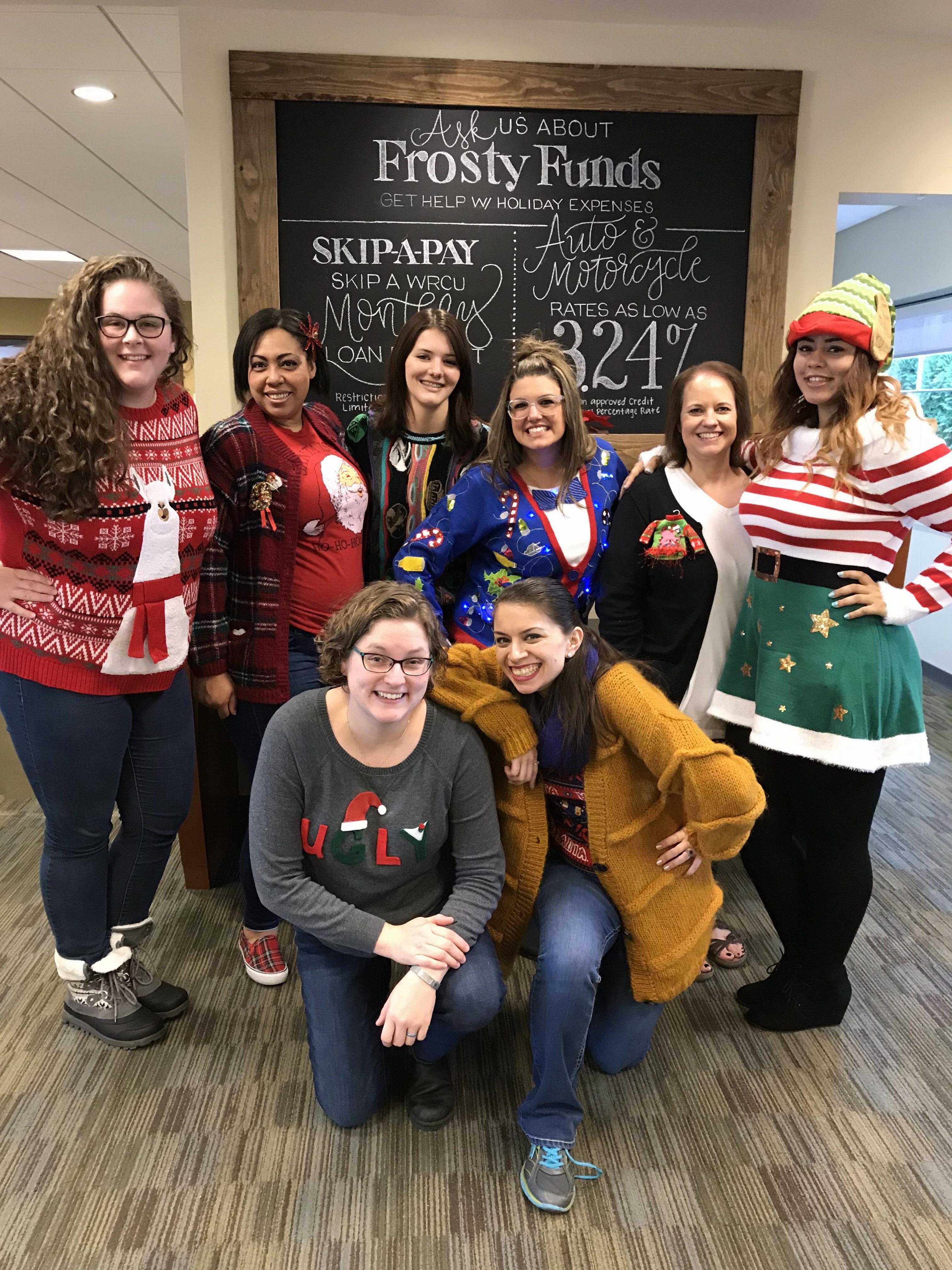 WRCU staff in group photo