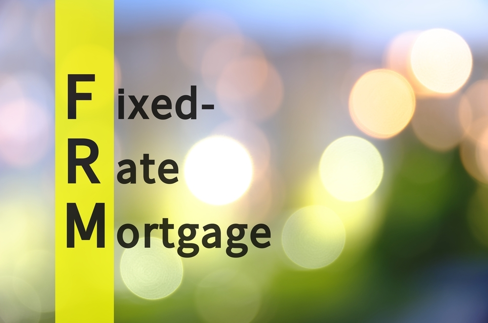 fixed rate mortgage on a blurred background