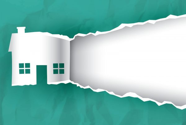 rendering showing a home ripping a piece of paper representing mortgage and housing trends in 2019