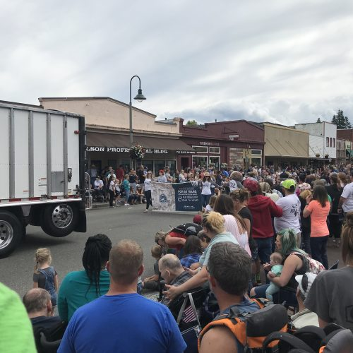 White River Credit Union in the 2019 Buckley Log Show Parade