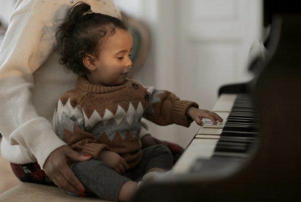 little girl on piano