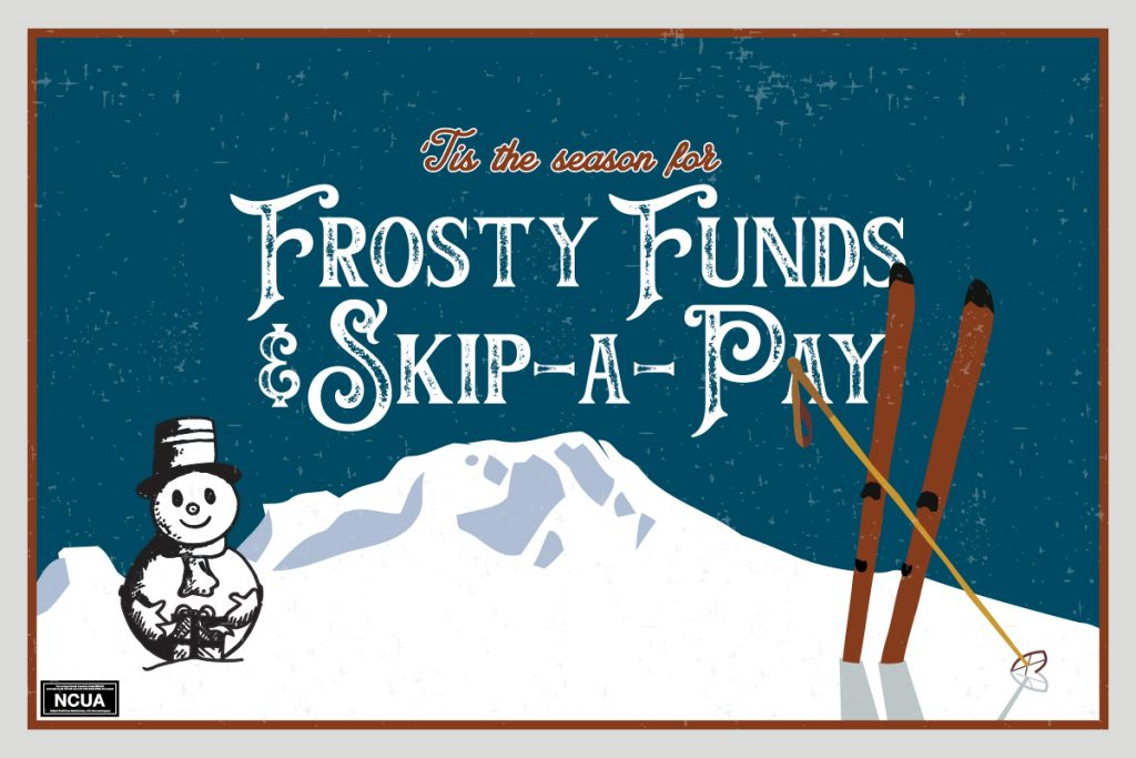Frosty Funds and Skip A pay snowman