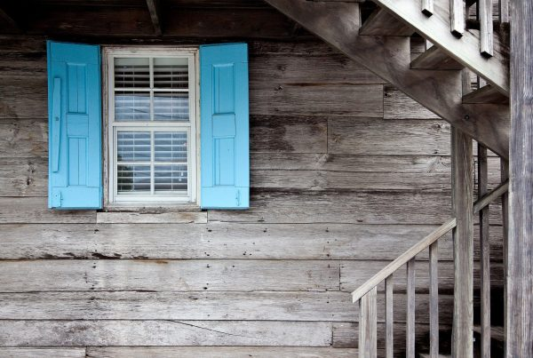 House with shutter window