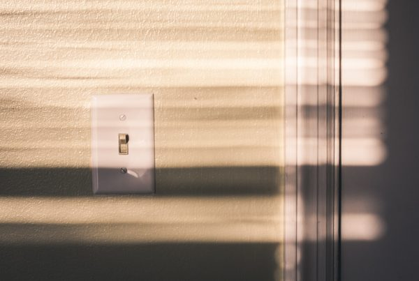 light switch on a wall